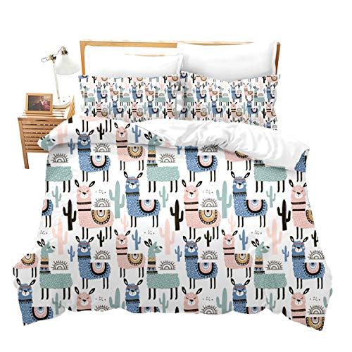 Loussiesd Juego de ropa de cama con cremallera, diseño de playa y mar, suave y transpirable, funda nórdica con 2 fundas de almohada, de 3 piezas