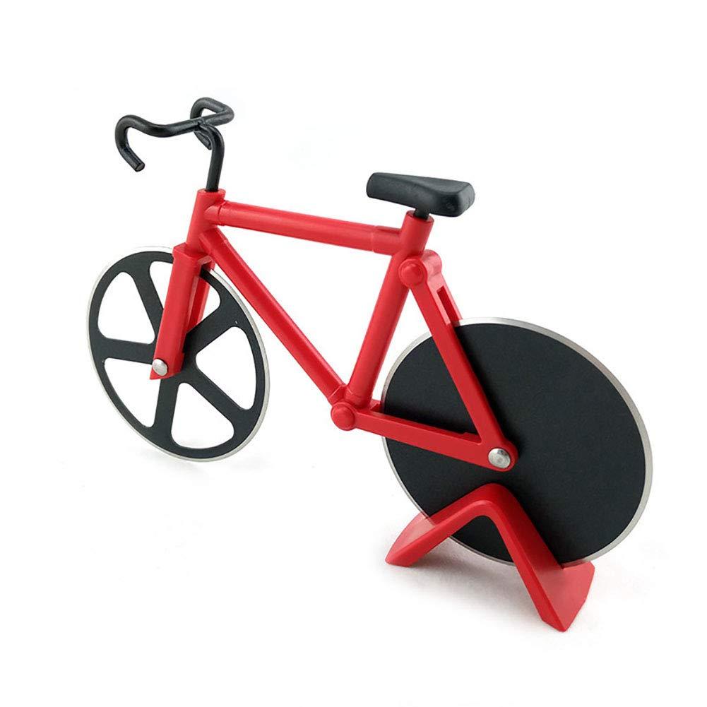 mxdmai 1pc Bicicleta Pizza Cutter Doble en Acero Inoxidable ...