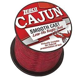 top 10 zebco fishing line Zebco Cajun Line Smooth Cast Line, poor visibility Ragin'Red, 1850 yards (CLLOWVISQ6C.SW6)