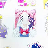 15ピースアニメ美容女の子フレーク用日記車の装飾Diy手描きの漫画の女の子の男子生徒スクラップブッキング子供ステッカー