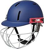 Gm Purist Geo Navy Cricket Helmet Junior