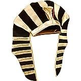 Dimensioni: cappello egiziano misura 23,4 pollici/ 59,4 cm nella circonferenza della testa, entrambi i lati sono lunghi 13 pollici/ 33 cm, altezza 9,25 pollici/ 23,5 cm, una taglia adatta per la maggior parte degli adolescenti e degli adulti, ma non ...