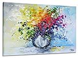 exclusive-gallery I Monica Mirafiori I 100% HANDGEMALT I Gemälde Strauß 120x80cm | XXL Leinwandbild handgemalt | Acrylgemälde auf Leinwand | Sehr großes Acrylbild auf Keilrahmen