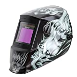 Antra AH6-660-6218 Auto Darkening Welding Helmet Large Viewing 3.86X2.50' Wide Shade Range 4/5-9/9-13 Engineered for TIG MIG/MAG MMA Plasma Grinding, Solar-Lithium Dual Power, 6+1 Extra Lens Covers