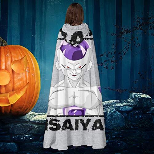 AISFGBJ Tren Insaiyan Frieza Dragon Ball Z Unisex Navidad Halloween Bruja Caballo con capucha Vampiros Capa Cosplay Disfraz