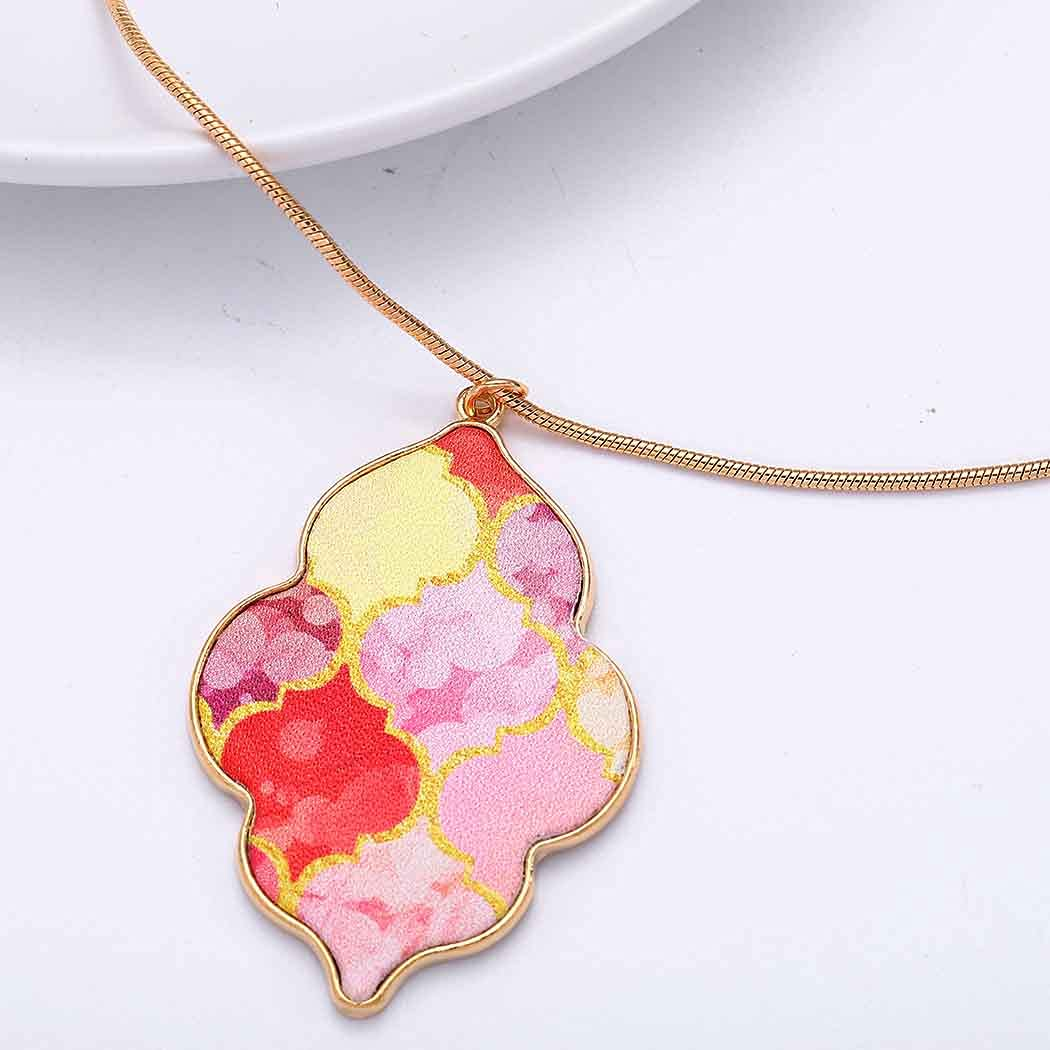 Mosako Boho NecklacesLong Necklaces Chain Pink CloudPendantNecklace Sweater GoldDelicate Dainty Stylish Fashion Party Necklace jewelry forWomenandGirls