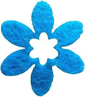 Bastel-s petra'news a-blf 1516–57 décoratifs Motif Fleurs 100 x 40 mm, Feutre Turquoise