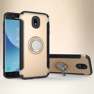 Protective Case Compatible with Samsung 360 Degree Rotating Finger Ring Holder and Magnet Car Holder Case Compatible Samsung Galaxy J5 Pro 2017 J530 (European Version) Phone case (Color : Gold)