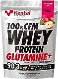 ケンタイ 100%CFM ホエイプロテイン グルタミン アップル K0223(700g)