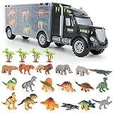 BeebeeRun Dinosaurio del Juguete Cami├│n de Transporte con Animales Dinosaurios Juguetes,Educativo Juguetes Ni├▒os 3 4 5 a├▒os