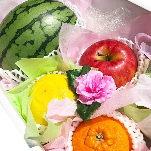 【贈答用】 フルーツとお花の贈り物 フルーツギフト 小玉すいか