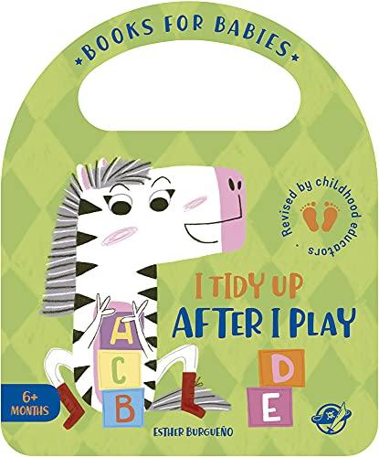 I Tidy Up After I Play: Un cuento en inglés para aprender a recoger los juguetes después de jugar, interactivo, con una solapa y con una asa: 8