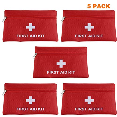 MTGHYAYA Small First Aid Kit Bag Empty, First Aid Bag Pouch Compact Survival Medicine Bag for Home...