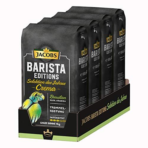 Jacobs Kaffeebohnen Barista Editions Selektion des Jahres Brasilien 4 x 1 kg Bohnenkaffee