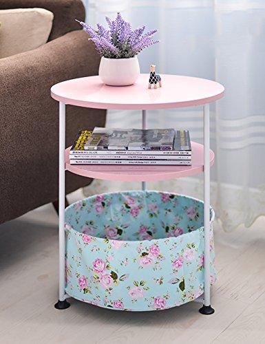 Creative Minimaliste Table Basse de Salon Ronde Petit Bureau Portable (4 Couleurs, Deux Types de Styles Disponibles) (Couleur : 1#, Style : B)