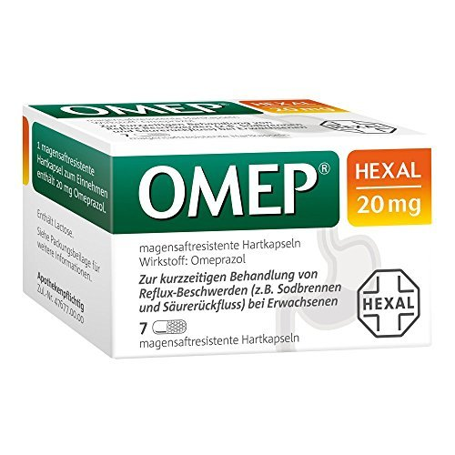 OMEP HEXAL 20 mg magensaftresistente Hartkapseln 7 St Kapseln magensaftresistent by OMEP