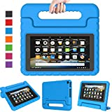 LTROP Case for Amazon Fire 7 Kindle Kids Case 2019 - Light Weight Shock Proof Convertible Handle Stand, Corner...