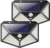 ANNA TOSANI Luz Solar Exterior, Luces Solares 100 LED Foco Solar Exterior...