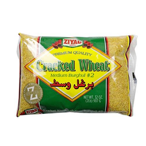 Ziyad - Relleno de pan de trigo agrietado número 2, tamaño mediano, perfecto para migas de pan, avena, tabouli, kibbeh, curries. 32 oz