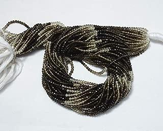 Jewel Beads Natural Beautiful jewellery Shaded Smoky Quartz Rondelle Beads, Smoky Quartz Gem Stone, 2.5 mm Beads, Faceted Rondelle, Gemstone Beads, 14 Inch StrandCode:- JBB-6327
