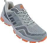 Herren Sportschuhe Sneaker Turnschuhe Schuhe Übergröße gr.47-49 Art.-Nr.1388 grau-d.grau-orange (48)