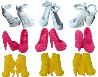 LAVALINK 10 Pares De Zapatos De Tacón Alto De Sandalias del Monstruo De La Muñeca De Los Zapatos Coloridos para Muñeca Bot...