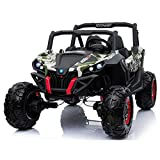 UTV CAMO 4X4 Sport Edition 2 Seater 24VOLTS Buggy/UTV Style Kids Electric Ride On Car with RC - Power Wheel TV Screen Ride ON UTV Buggy 24v Kids Ride On Car with Remote Control RZR -camo