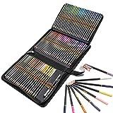 Ensemble De 72 Crayons De Couleur De Qualité Professionnelle, Trousse pratique pour ranger et protéger vos crayons, Idéal pour Artistes, Adultes et Enfants