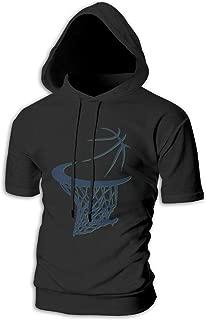 ZOE-SHOP San Antonio Mens Hipster Hip Hop Short Sleeve Longline Pullover Hoodies Shirts