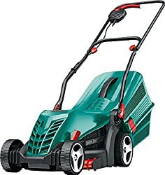 1300 W Power drive motor ensures a reliable cut in long or wet grass 34 cm cutting diameter ideal for small to medium lawns up to one tennis court Double folding handles and stackable grassbox for compact storage Grass combs cut right up to and over ...