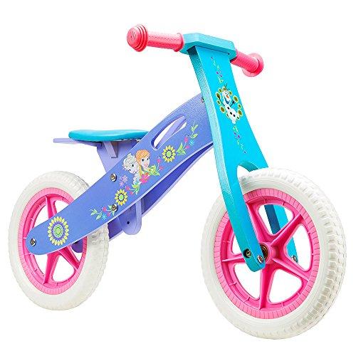 Eiskönigin Frozen Kinder Laufrad Holzlaufrad Kinderfahrrad Bike 12-Zoll-Räder Eva ab 2 Jahren Mädchen Lernlaufrad