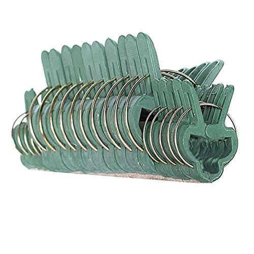 ZXNQ 100 Pcs Clip de Planta, Patio Apoyo Clips de Fijación, Clip de Jardinería de Plástico, (50 Pequeñas+50 Grandes) para Plantas Tallos Grow Vertical