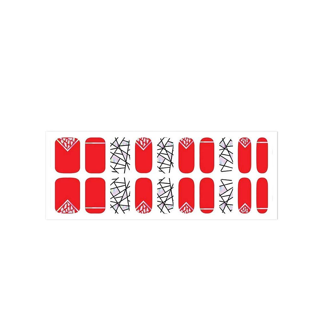 盆地トラクター絶滅した爪に貼るだけで華やかになるネイルシート! 簡単セルフネイル ジェルネイル 20pcs ネイルシール ジェルネイルシール デコネイルシール VAVACOCO ペディキュア ハーフ かわいい 韓国 シンプル フルカバー ネイルパーツ シール フラワー クリア ラインテープ ツートン おしゃれ (broken glass(レッド))