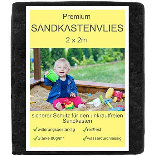 Włóknina do piaskownicy 2 x 2 m – włóknina przeciw chwastom dla dzieci, piaskownica – podkładka pod piaskownicę, przepuszczająca wodę, odporna na rozerwanie, przyjazna dla środowiska