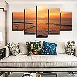 N / A Cartel y HD Foto Mural Arte Lienzo Pintura mar Amanecer Imagen decoración de la Sala sin Marco 70x125 cm