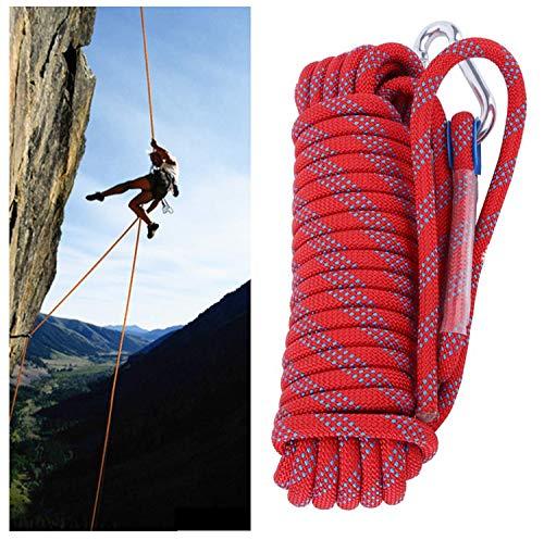 Kletterseil, Kletterseil Im Freien, Schweres Sicherheitsseil, Für Baumklettern/Klettern/Wandern/Rettung/Zelt/Hundeleine 5M / 15M / 20M / 30M (Size : 10mm/30m)