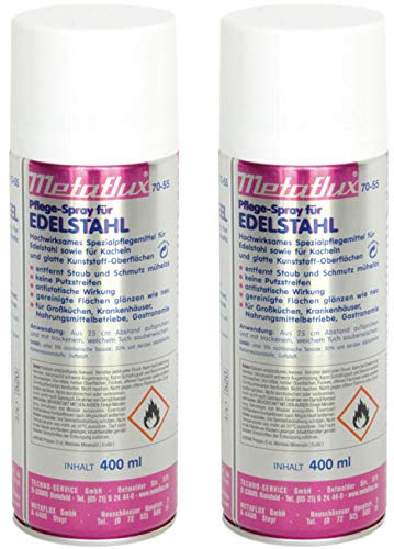 METAFLUX 70-55 Edelstahl Pflegespray 400ml 2er Set
