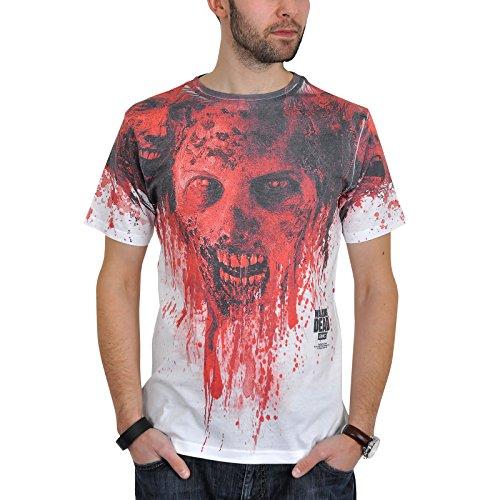 The Walking Dead - Herren T-Shirt - Walker Sublimation (Weiss) (S-L) (S)
