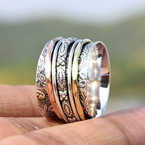 Beautiful Spinner Ring |Anxiety Ring| xmas gift Handmade Ring |Designer Ring |925 silver||Spinner Ring||Meditation Ring