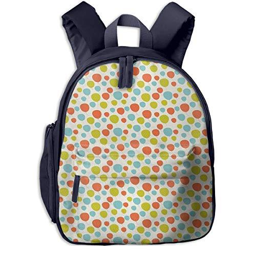 Kinderrucksack Kleinkind Jungen Mädchen Kindergartentasche Luftballons Himmel Tupfen Backpack Schultasche Rucksack