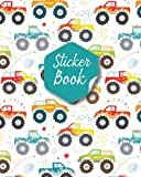 Monster Truck Blank Sticker Book: Monster Truck Theme Blank Sticker Album for Collecting Sticker for Kids Boy, Activity Book Page Size 8x10 Inches 100 Pages