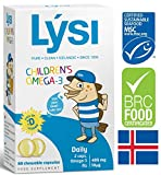 Lysi Omega-3 Children's 60 Chewable Capsules With Fruit Flavour Made In Iceland