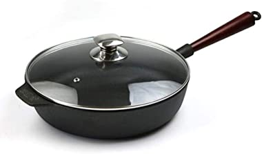 Skillets Cast Iron Frying Pan Household Cooking Pot, Non-fume Fried Egg, Steak Pot, Anti-scalding Handle, Non-stick Pan/11inchs