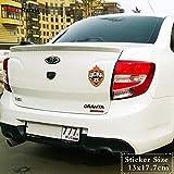 OLUYNG Sticker de Carro trl128# 13x17.7cm CSKA moscú Etiqueta engomada del Coche PVC Divertido Auto Estilo s calcomanía extraíble 1 Pieza TRL128