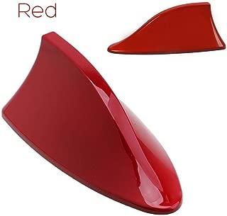 FOLCONROAD Car Shark Fin Antenna Auto Shark Fin Roof Aerial Base Radio Signal [Red][US Warehouse]