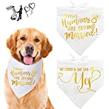 🐶Perfect Wedding Gift - Do you have big news to announce, a cute dog and want a special way to share this happy news? Let friends and family know your big news in a unique way with this bandanas. 🐶Gilding Pattern Design - Unique gilding pattern give ...