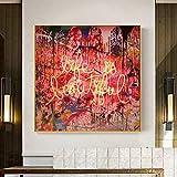 KWzEQ Pintura sin Marco Hermosos murales en Carteles e Impresiones de Lienzo de Arte Abstracto, decoración de la Sala de Estar en el hogarAY6915 60X60cm