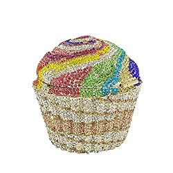 #6 Cupcake Crystal Minaudiere Clutch Purse