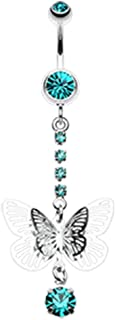 Radiant Opal Sparkle 316L Surgical Steel Freedom Fashion Belly Button Ring Sold Individually