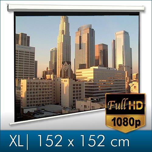 Melko® Rolloleinwand für Beamer, Rollo, Heimkino, Büro, Projektoren, 152 x 152 cm, 85 Zoll - Ideal für HD-TV